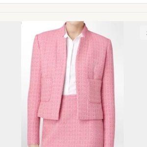 Calvin Klein pink tweed suit